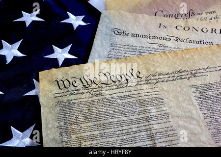Environmental Science Essays Constitution And Declaration Of Independence Us Constitution With Bill Of  Rights And Declaration Of Independence On An American Flag  Stock Essays On Death also Essays On Leadership Styles Us Constitution With Bill Of Rights And Declaration Of Independence  Essay About Industrial Revolution