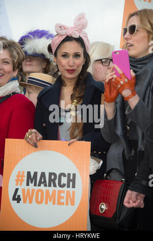 London, UK. 05th Mar, 2017. Celebs and the public attend the March 4 Women 2017 starting at the Scoop, London. Credit: - Stock Photo