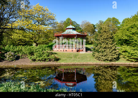 Bandstand in Sefton Park, Liverpool - Stock Photo