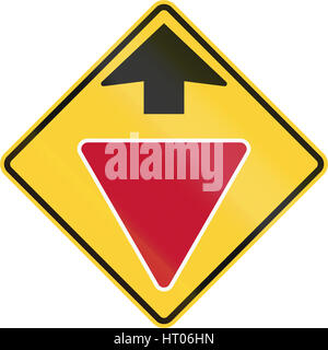 United States non-MUTCD-compliant road sign - Stop ahead ...