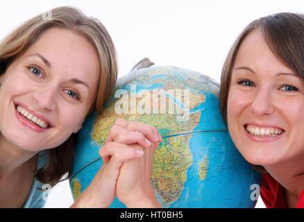 Symbolbild globale Freundschaft - symbolic for global friendship - Stock Photo