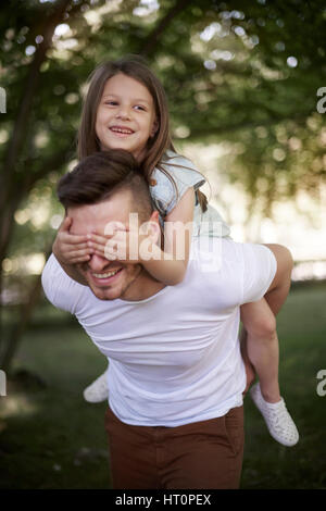 My daddy always find the right way - Stock Photo