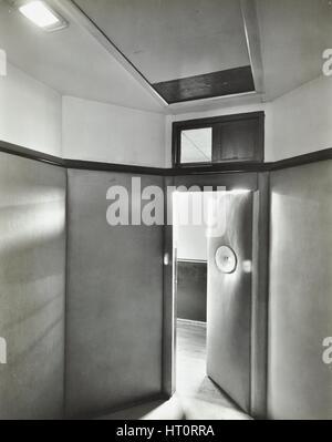 Padded room, Saint Ebba's Hospital, Surrey, 1938. Artist: Unknown. - Stock Photo
