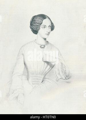 'Johanna Wagner', 1852. Artist: Richard James Lane. - Stock Photo