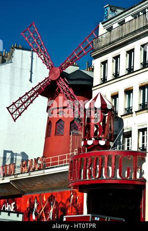 cabaret 'Moulin Rouge' (Red Windmill). Pigalle. Montmartre. Paris, France, Europe.