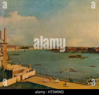 'The Thames from Richmond House', 1746. Artist: Canaletto. - Stock Photo