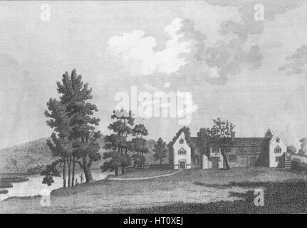 'Medmenham Abbey near Henley on Thames', 1787. Artist: J Newton. - Stock Photo