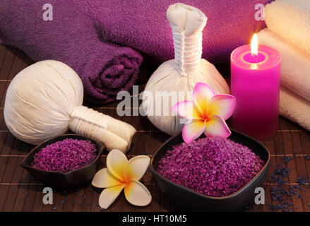 spa massage setting - Stock Photo