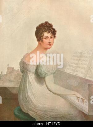 Windsor Castle, 1821. Georgina Quentin mistress of King George IV (1762-1830), 1911. Artist: Unknown - Stock Photo