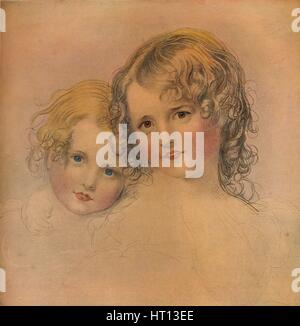 The Calmady Children, c1823, (1916). Artist: CG Lewis - Stock Photo