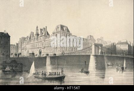 'View of the Hotel de Ville and the Pont d'Arcole', 1915. Artist: JB Arnout. - Stock Photo