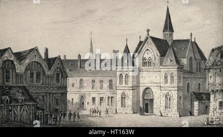'The College of Sorbonne in 1550', 1915. Artist: Unknown. - Stock Photo