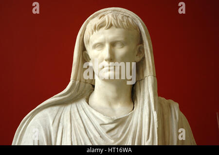 The Via Labicana Augustus portrayed as Pontifex Maximus with his head velied for a sacrifice. Detail Artist: Werner - Stock Photo