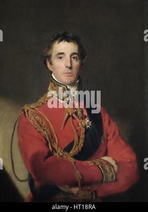 Portrait of Arthur Wellesley (1769-1852), 1st Duke of Wellington, 1815-1816. Artist: Lawrence, Sir Thomas (1769 - Stock Photo