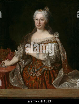 Portrait of Archduchess Maria Anna of Austria (1683-1754), Queen of Portugal, c. 1729. Artist: Ranc, Jean (1674 - Stock Photo