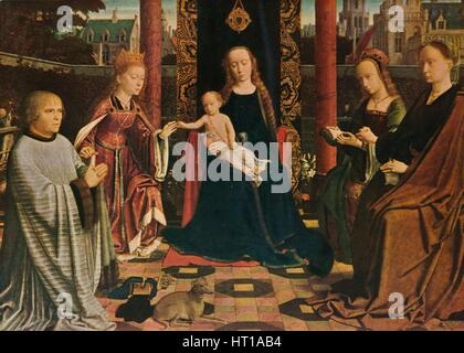 'The Virgin and Child with Saints and Donor', 1510, (1909). Artist: Gerard David. - Stock Photo