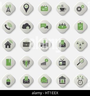 Set of universal office and organizational icons. Vector element of graphic design - Stock Photo