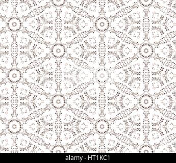 Abstract seamless pattern with circular ornament Swirl geometric oriental doodle texture. Engrave tiled mosaic background. - Stock Photo