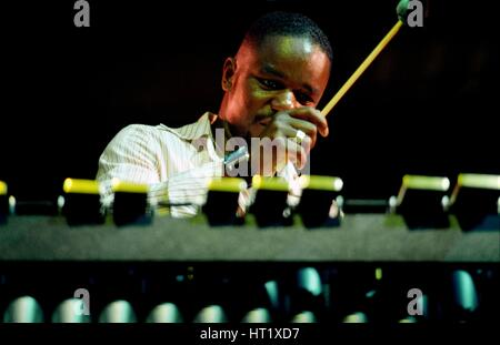 Stefon Harris, Brecon Jazz Festival, August 2004.  Artist: Brian O'Connor. - Stock Photo
