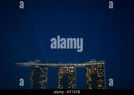 18.09.2016, Singapore, Republic of Singapore - A view of the Marina Bay Sands Hotel. - Stock Photo