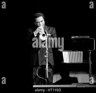 Freddie Hubbard, Fairfield Halls, Croydon, November 1987.    Artist: Brian O'Connor. - Stock Photo