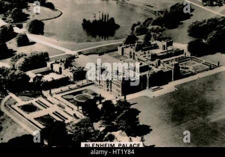Aerial view of Blenheim Palace, 1939. Artist: Unknown - Stock Photo