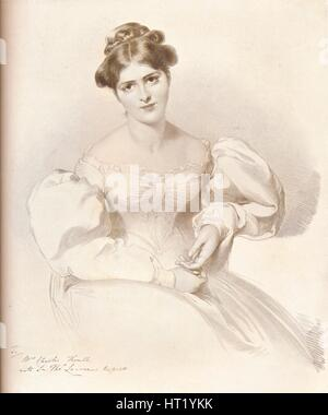 Frances Anne Fanny Kemble, (1809-1893), British actress, c1829, (1909). Artist: Richard James Lane - Stock Photo