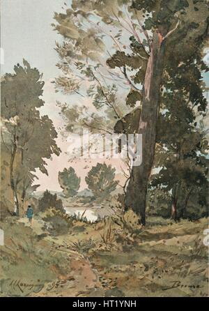 From The Watercolour by Henri Harpignies, c1839-1898, (1898). Artist: Henri-Joseph Harpignies - Stock Photo