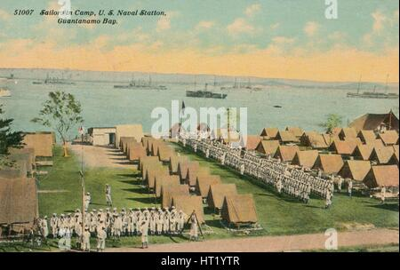 Sailors in Camp, US Naval Station, Guantanamo Bay, c1911. Artist: Unknown - Stock Photo