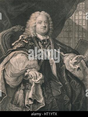 Benjamin Hoadly, (1676-1761), English clergyman, 19th century. Artist: B Holl - Stock Photo