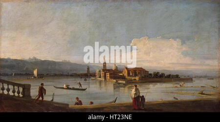 View of the Isles of San Michele, San Cristoforo and Murano from the Fondamente Nove, Between 1725 a Artist: Canaletto - Stock Photo