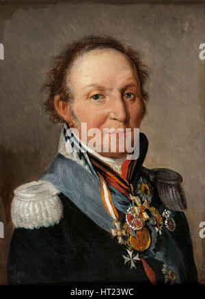 Portrait of Field Marshal Count Ludwig Adolf Peter of Sayn-Wittgenstein-Ludwigsburg (1769-1843). Artist: Boilly, - Stock Photo