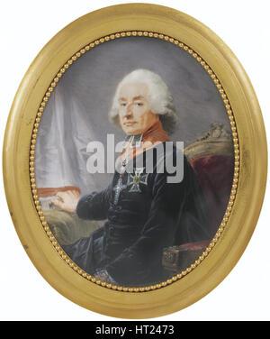 Portrait of Friedrich Karl Joseph Reichsfreiherr von Erthal (1719-1802), 1789. Artist: Füger, Heinrich Friedrich - Stock Photo
