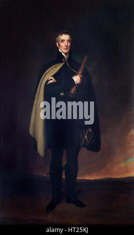 Portrait of the Duke of Wellington, 1860. Artist: Spiridione Gambardella. - Stock Photo