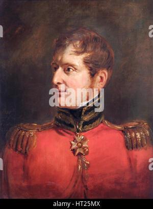 Portrait of Field Marshal Lord Fitzroy James Henry Somerset, British soldier, 1821. Artist: Jan Willem Pieneman. - Stock Photo
