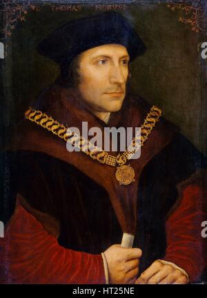 Portrait of Sir Thomas More, c1600. Artist: Unknown. - Stock Photo