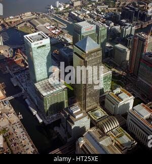 Canary Wharf, Docklands, Poplar, London, c2000s. Artist: Historic England Staff Photographer. - Stock Photo