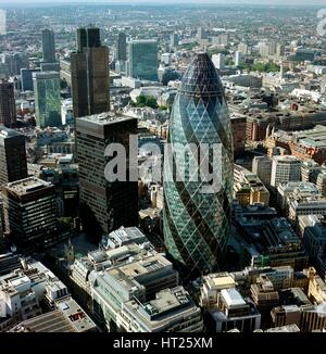 30 St Mary Axe, City of London, 2000s. Artist: Unknown. - Stock Photo