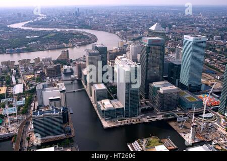 Canary Wharf, Docklands, London, 2006.  Artist: Historic England Staff Photographer. - Stock Photo