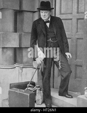 'Winston Churchill at the Admiralty', 1939, (1940). Artist: Unknown. - Stock Photo