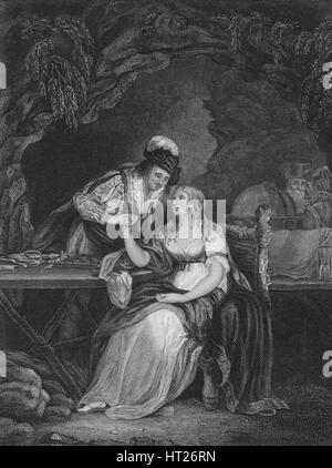 Act V Scene i from The Tempest, c19th century. Artist: Unknown. - Stock Photo