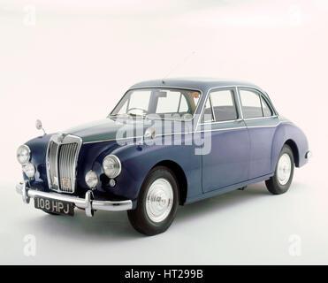 1957 MG ZB magnette varitone. Artist: Unknown. - Stock Photo