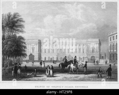 'Prince of Orange's Palace, Brussels', 1850. Artist: Shury & Son. - Stock Photo
