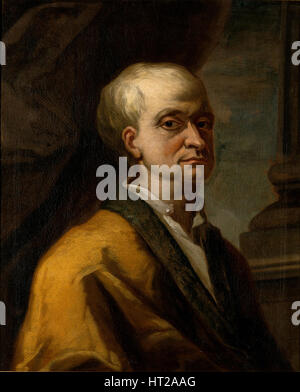 Portrait of Sir Isaac Newton (1642-1727), 1710. Artist: Anonymous - Stock Photo