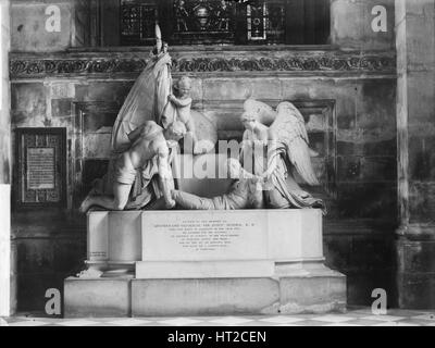 Sir John Moore Monument, St Paul's Cathedral, London, c1870-c1900. Artist: York & Son. - Stock Photo