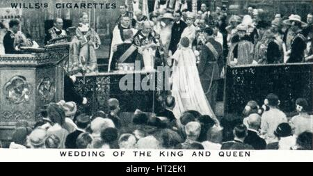 'Wedding of the King and Queen', 1923 (1937). Artist: Unknown. - Stock Photo
