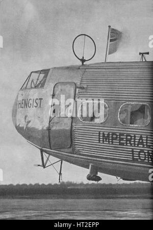 Aerial equipment on the Imperial Airways liner Hengist, c1936 (c1937). Artist: Marconi's Wireless Telegraph Co Ltd. - Stock Photo