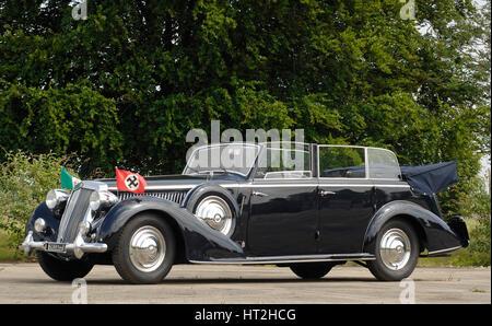 1938 Lancia Astura Lungo Mussolini Artist: Unknown. - Stock Photo