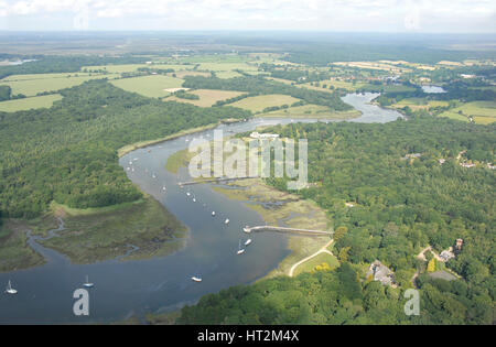 Beaulieu Aerial shots. Artist: Unknown. - Stock Photo