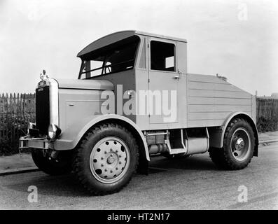 1946 Scammell Showman's Tractor Artist: Unknown. - Stock Photo